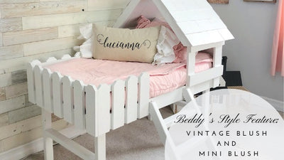 Beddy's Style Feature: Vintage Blush and Mini Blush