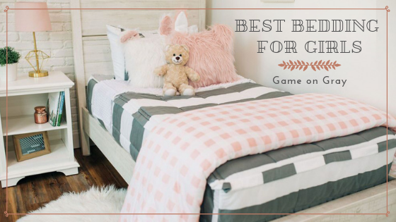 The Best Bedding for Girls: Game On Gray