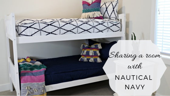 Sharing a Room With Nautical Navy