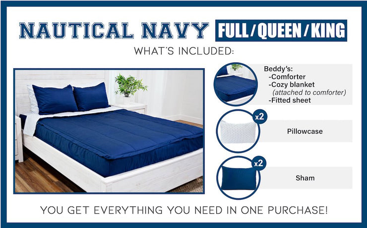 Nautical Navy Light Fill (Minky)