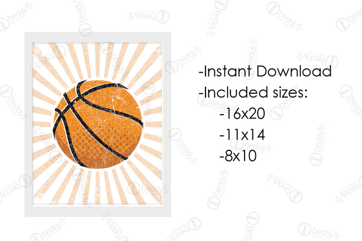 Vintage Basketball Artwork Download