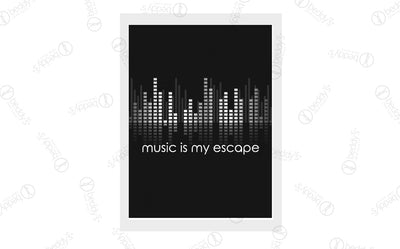 Music is my Escape Digital Artwork Download