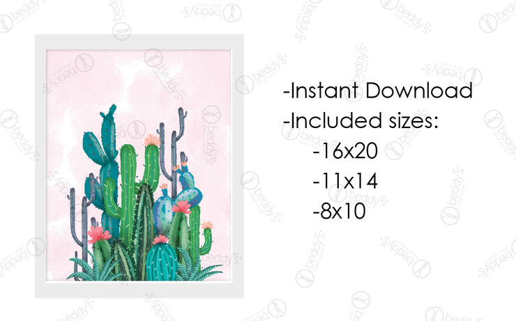 Painted Cacti Artwork Download