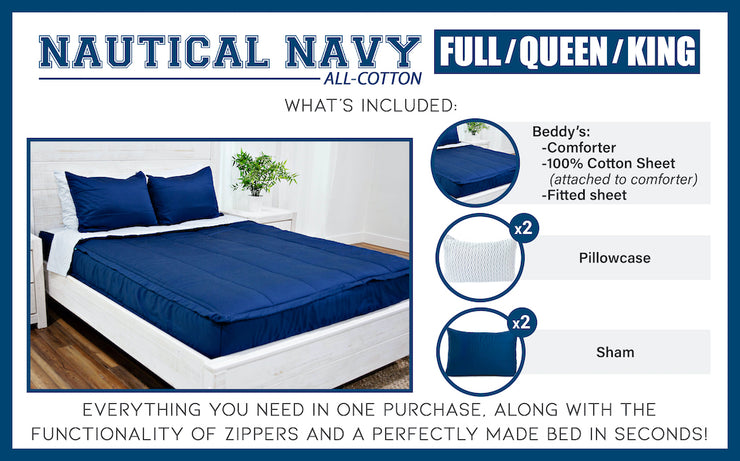 Nautical Navy Light Fill (All Cotton)