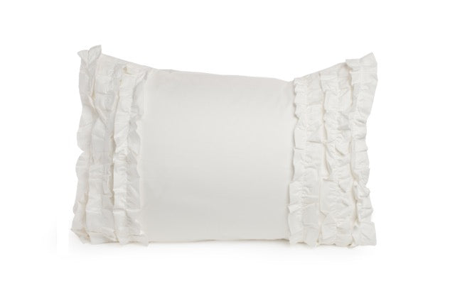 Chic White Ruffled Sham