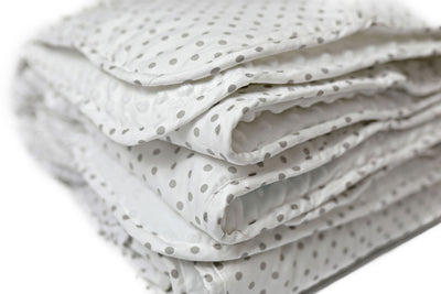 Gray Dots Large Blanket