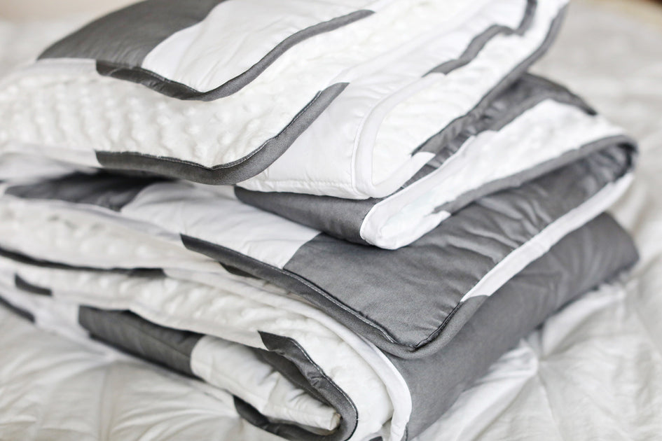 Shop Gray Rugby Blanket - EST. SHIP DATE 8/10-8/24 from Beddy's on Openhaus