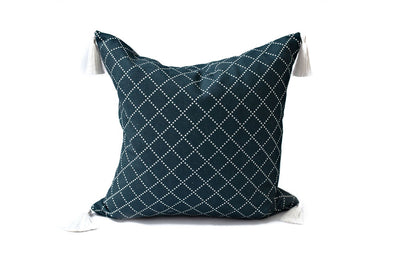Dotted Diamonds Midnight Pillow Cover