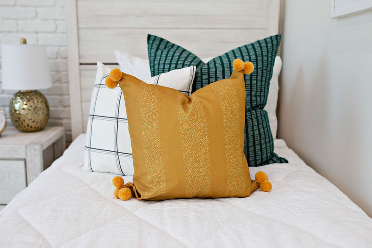 Subtle Stripe Mustard Medium Pillow Cover
