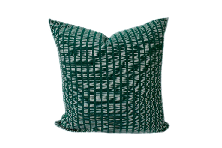Sketchy Stripes Emerald Euro Pillow Cover