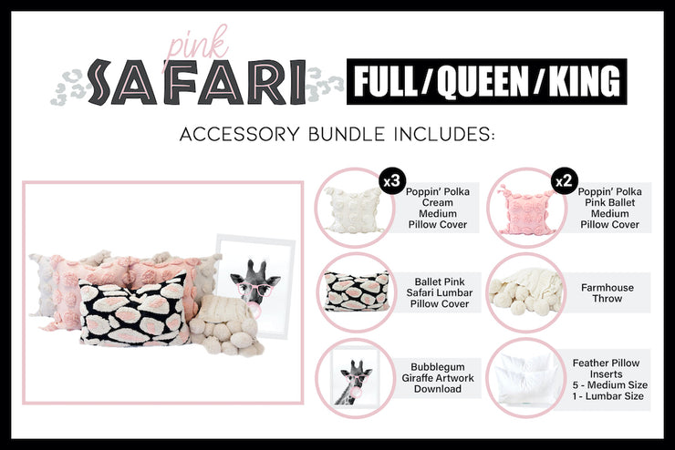 Pink Safari Accessory Bundle