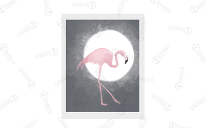 Moonlight Flamingo Artwork Download