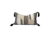 Charcoal & Wheat Lumbar Pillow Cover