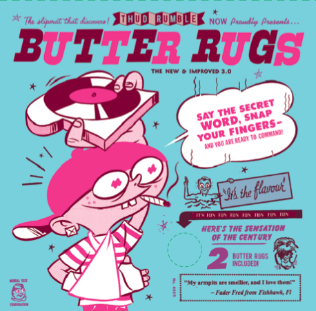 "Butter Rugs - 7"" - Thud Rumble"