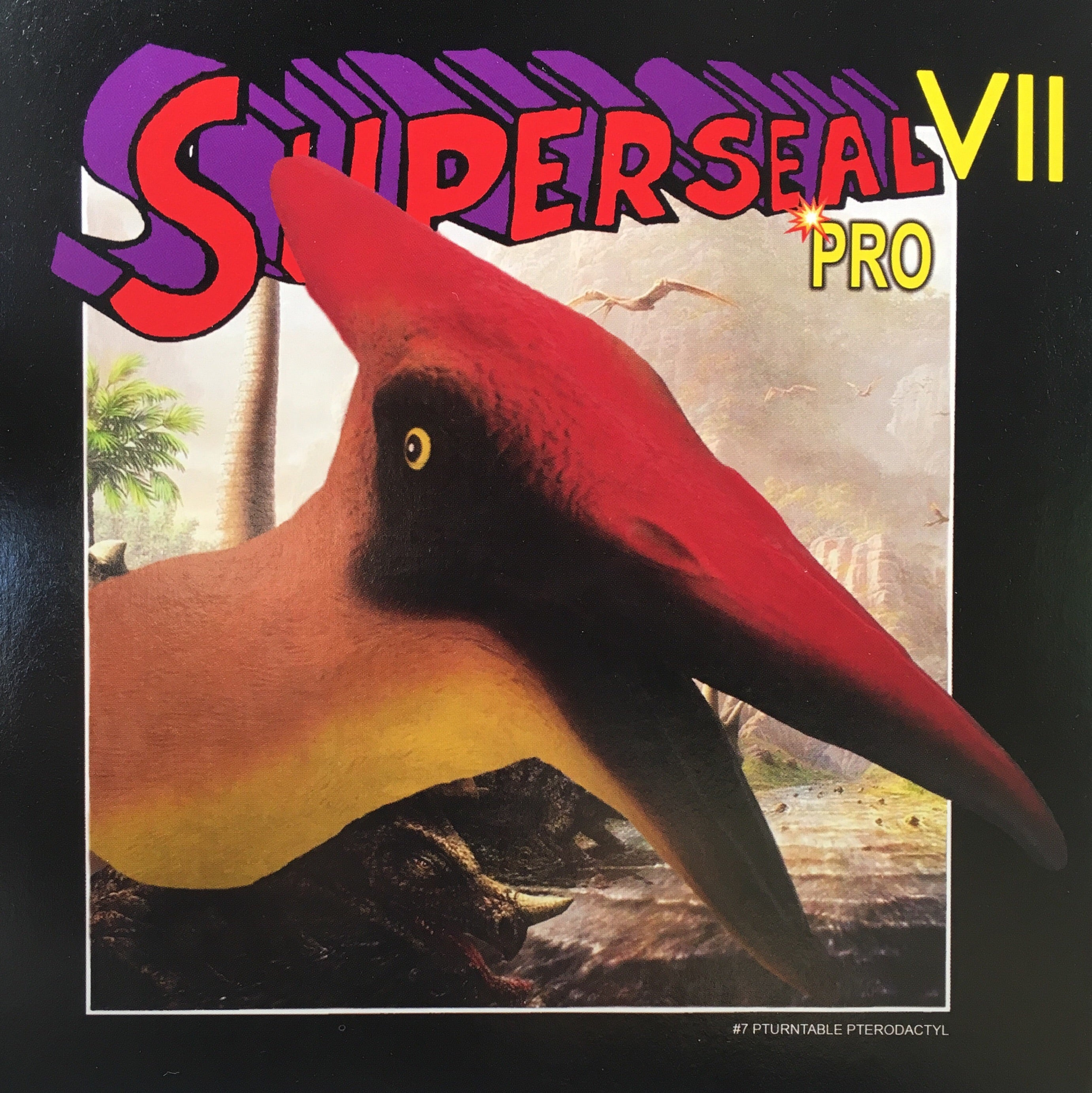 "Superseal VII Pro Part #7 of 7 Pturntable Pterodactyl 7"" L. wing Neon vinyl (Low quantity!)"