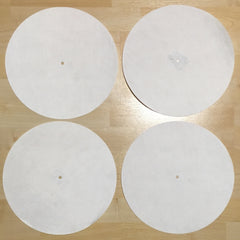 Back Up Butter Rugs White (minor imperfections) 4 pack! 12""