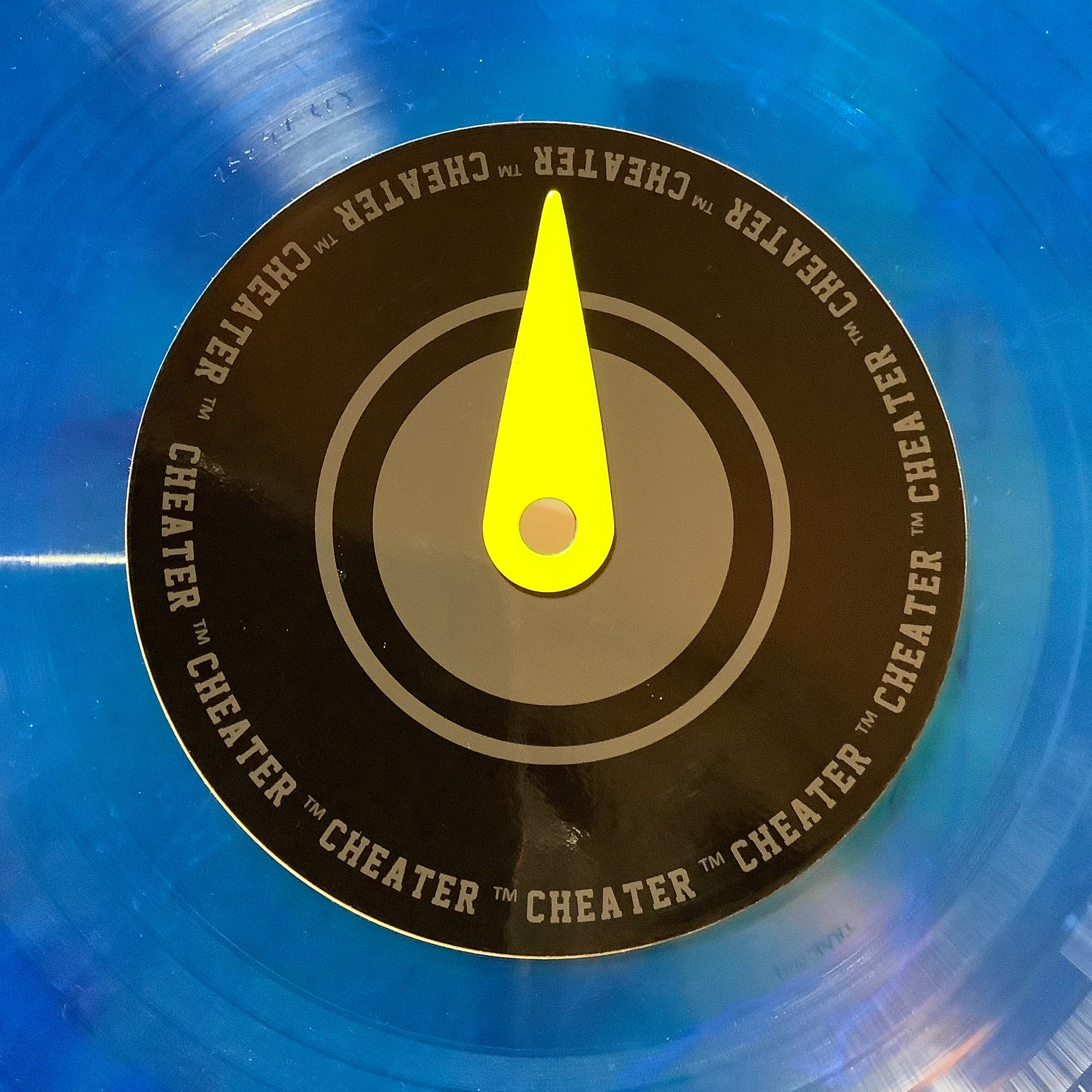 Cheater! Magnetic record label marker