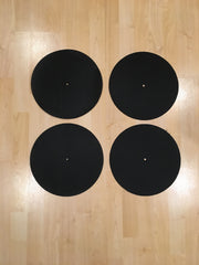 Back Up Butter Rugs Black (minor imperfections) 4 pack! 12""