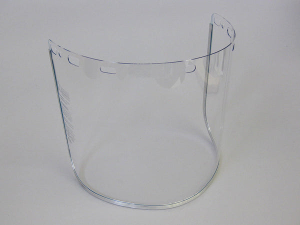 Replacement Face Shield 8 x 16 x .040 Clear Polycarbonate Aluminum Bound