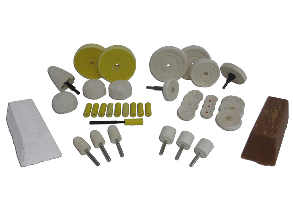 Deluxe Specialty Buffing Kit for Aluminum, Brass, Copper, and Pot Metals