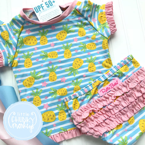Size 6Y - Pineapple Two Piece - Ruffle Butts
