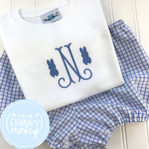 Boy Shirt - Initial with Mini Bunny