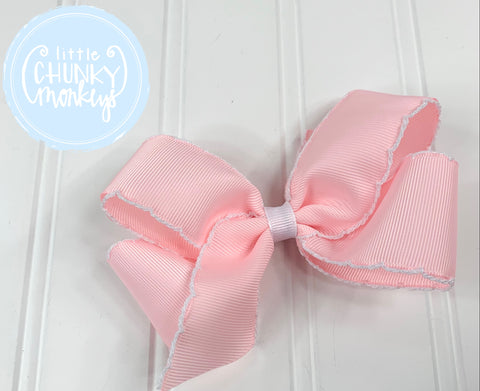 Pink with White Moonstitch Trim - Wee Ones