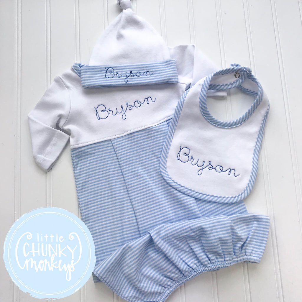 Baby Boy Gown - Bring Home Outfit - Personalized Newborn Gown with Personalization