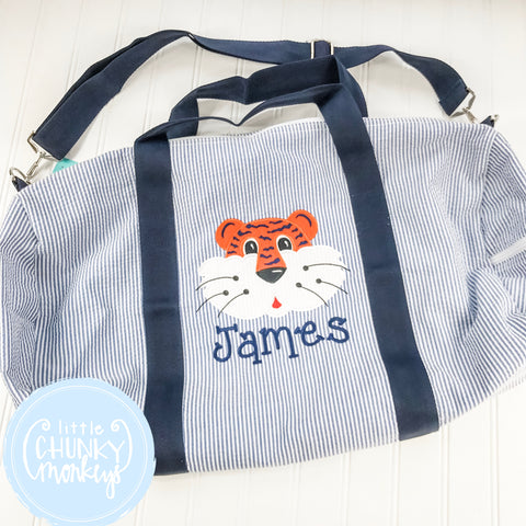 Large Weekender Duffle with Tiger Applique