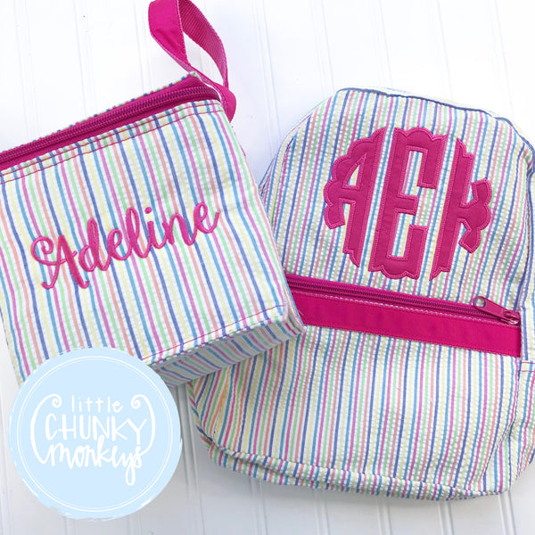 Snack Cube Lunch Box + Personalization on Pink