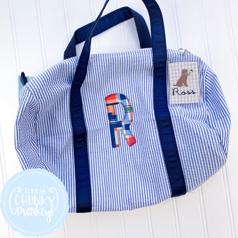Baby Duffle with Applique Initial
