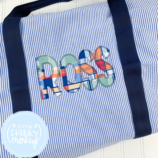 Large Weekender Duffle with Applique Name