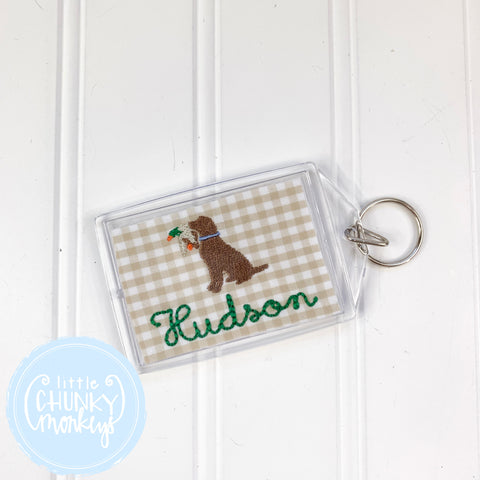 Personalized Luggage Tag - Duck Dog