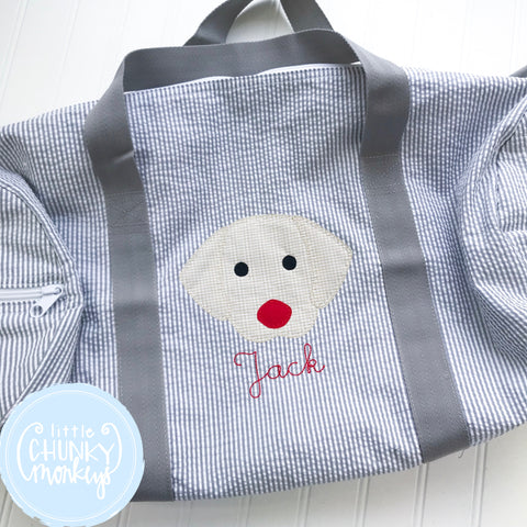 Large Weekender Duffle with Applique Dog