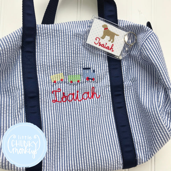 Baby Duffle with Train and Personalization
