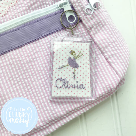 Personalized Luggage Tag - Ballerina