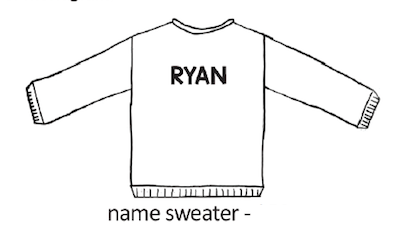Custom Knit Name Sweater