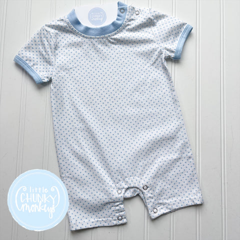 Light Blue Polka Dot Romper