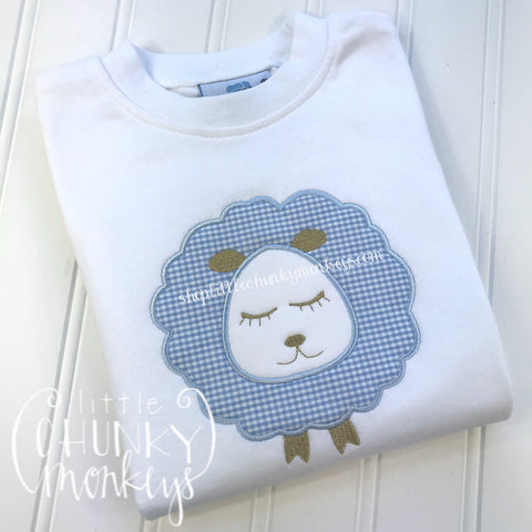 Boy Shirt - Boy Easter Shirt - Lamb Applique Shirt