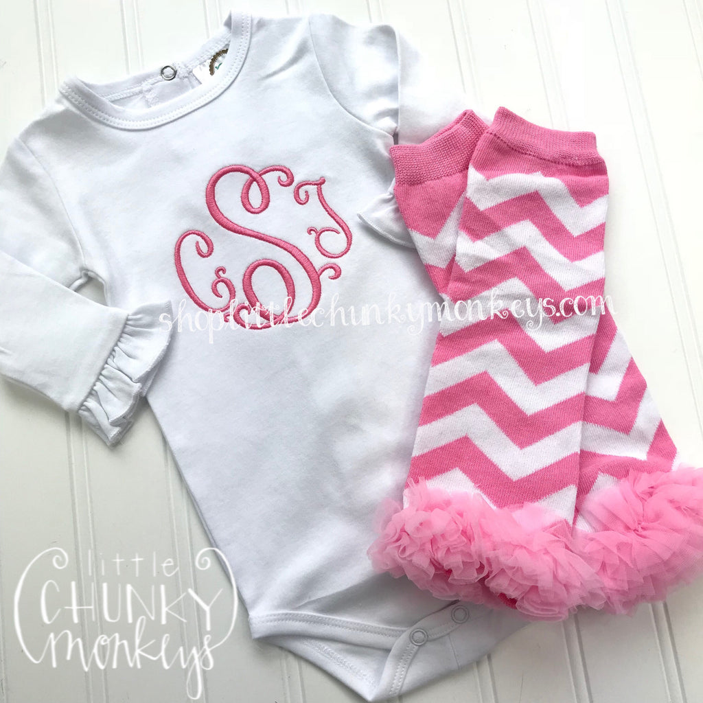 Girl Outfit - Baby Girl Outfit - Personalized Bodysuit + Optional Leg Warmers