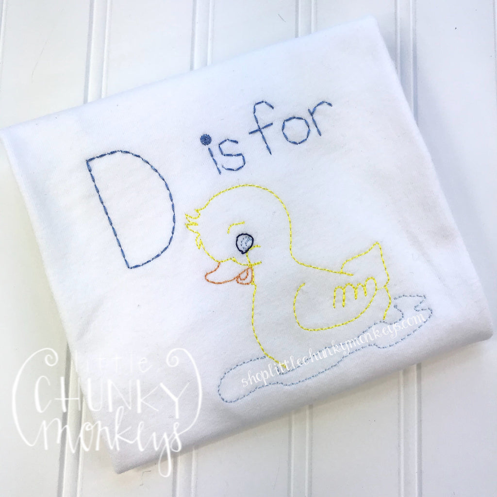 Boy Shirt - D is for Duck Shirt