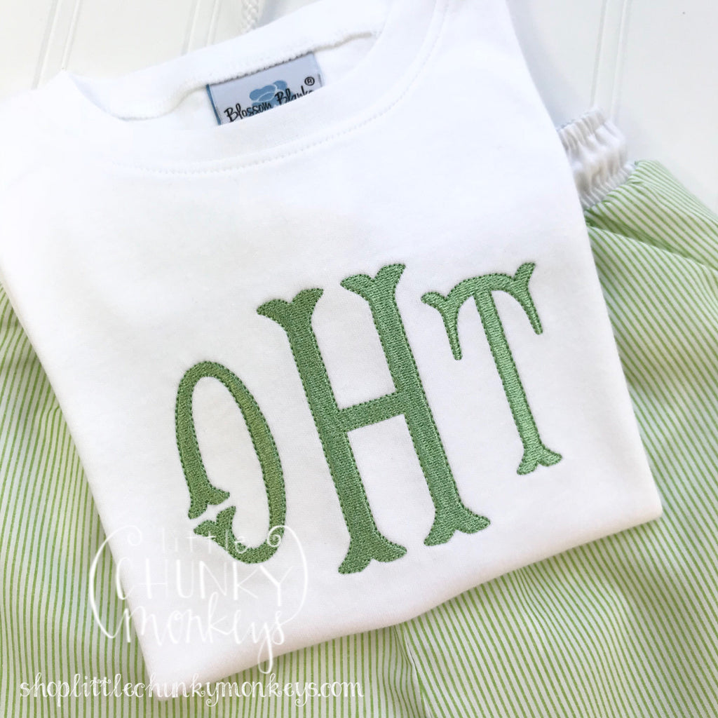 Boy Outfit - Personalized Boy Shirt - Boy Monogran Shirt in Light Green