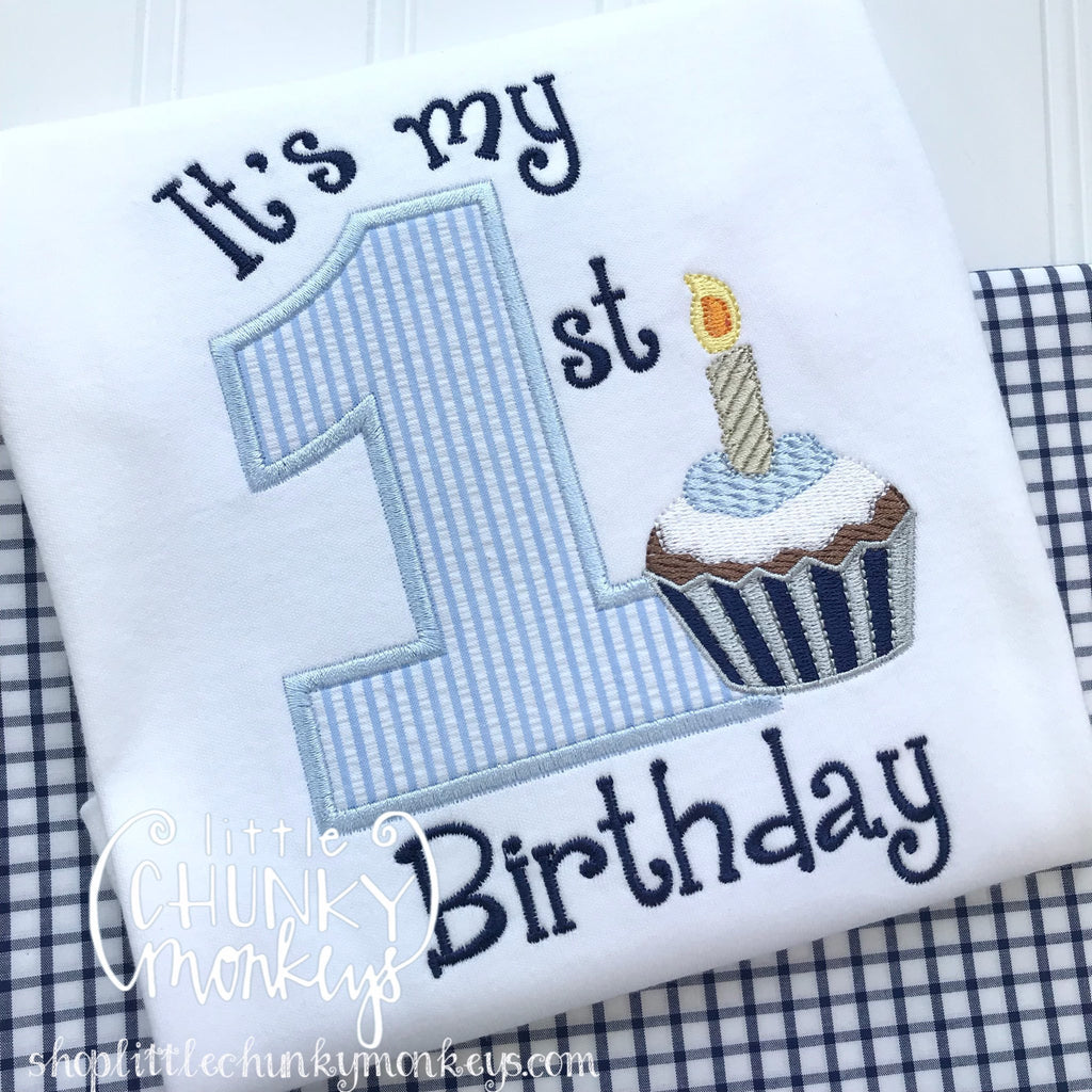 Boy Outfit - Boy Birthday Shirt - Boy Cupcake Birthday Shirt