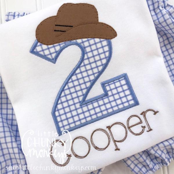 Boy Outfit - Boy Birthday Shirt - Boy Cowboy Hat Birthday Shirt