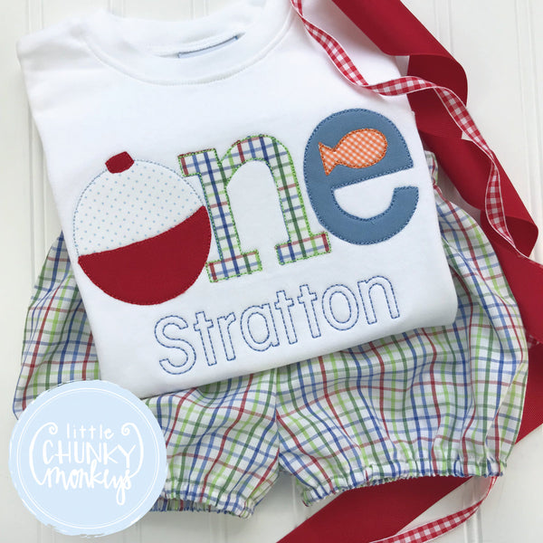 Boy Outfit - Boy Birthday Shirt - One Fishing Birthday Shirt + Personalization