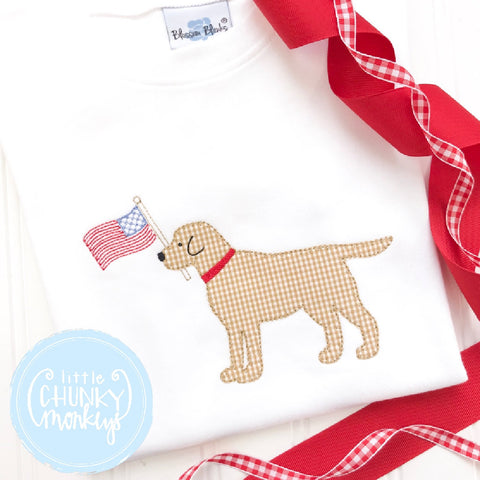 Boy Outfit - Personalized Boy Shirt - Lab with Flag