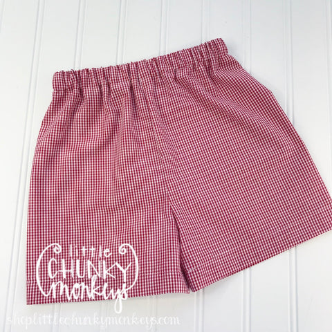 Boy Oliver Classic Shorts - Gingham in Red