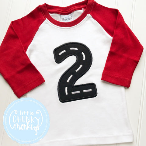 Boy Outfit - Boy Birthday Shirt - Applique Road Design Number