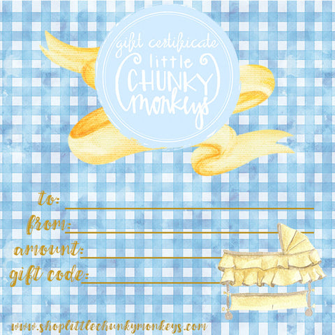 Gift Certificate - Baby Boy Gift Certificate