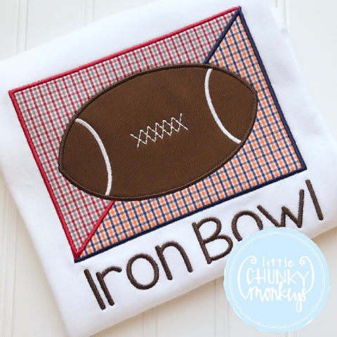 Boy Outfit - Iron Bowl Football Applique Shirt
